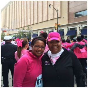 Komen Columbus Race for the Cure, 2014. My new friend Angy and I